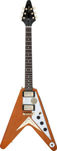 Musical Instruments:Electric Guitars, Circa 2011 Epiphone Flying V Natural Solid Body Electric Guitar,Serial # 1106200371....