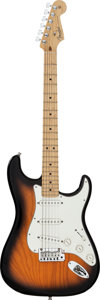 Musical Instruments:Electric Guitars, Circa 2000 Fender Stratocaster Sunburst Solid Body Electric Guitar,Serial # Z0282786....