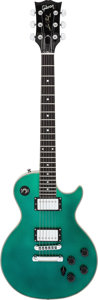 Musical Instruments:Electric Guitars, 1980 Les Paul-Style Metallic Blue/Green Solid Body Electric Guitar, Serial # 81550011....