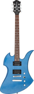 Musical Instruments:Electric Guitars, Circa 2010 B. C. Rich Mockingbird Metallic Blue Solid Body ElectricGuitar, Serial # 11110124....