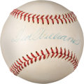 Baseball Collectibles:Balls, 1952-59 Ted Williams Single Signed Baseball, PSA/DNA NM-MT 8. . ...