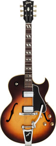 Musical Instruments:Electric Guitars, 1965 Gibson ES-175 D Sunburst Archtop Electric Guitar, Serial # 349811....