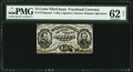 Fractional Currency:Third Issue, Fr. 1273SP 15¢ Narrow Margin Face Specimen PMG Uncirculated 62 Net.. ...