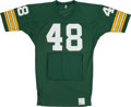 Football Collectibles:Uniforms, Mid 1970's Ken Ellis Game Worn Green Bay Packers Jersey - With Hand Warmers!...