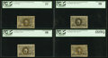 Fractional Currency:Second Issue, Near Complete Set of Second Issue Notes PCGS Graded.. ... (Total: 6 notes)
