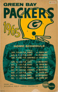 Football Collectibles:Others, 1965 Green Bay Packers Wisconsin Public Service Broadside (Laminated). ...