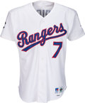 Baseball Collectibles:Uniforms, 1993 Ivan Rodriguez Game Worn Texas Rangers Jersey - Purchased from Team. . ...