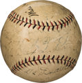 Baseball Collectibles:Balls, 1926 New York Yankees & St. Louis Cardinals Multi-SignedBaseball with Ruth, Alexander, McGraw, Huggins & Others. . ...