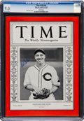 Autographs:Others, Circa 1990 Bob Feller Signed 1937 Issue of Time Magazine, PSA/DNA Gem Mint 10....