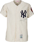 Baseball Collectibles:Uniforms, Circa 1990 Mickey Mantle Signed New York Yankees Jersey. . ...