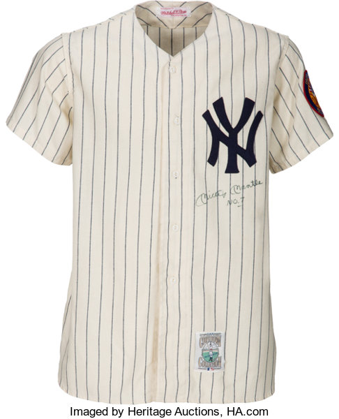 Circa 1990 Mickey Mantle Signed New York Yankees Jersey. . ...  89404249020