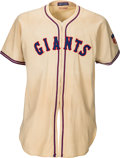 Baseball Collectibles:Uniforms, 1942 Johnny Mize Game Worn New York Giants Jersey.. ...