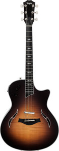 Musical Instruments:Electric Guitars, 2011 Taylor T5 Pro Sunburst Acoustic Electric Guitar, Serial #1112094158....