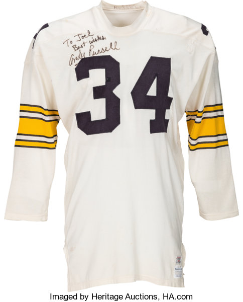 size 40 0e4ad faafc 1969 Andy Russell Game Worn Pittsburgh Steelers Jersey ...