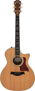 Musical Instruments:Acoustic Guitars, 2003 Taylor 814CE Natural Acoustic Electric Guitar, Serial # 20030416131....