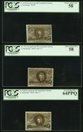 Fractional Currency:Second Issue, Five Different 50¢ Second Issue Notes PCGS Graded.. ... (Total: 5 notes)