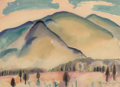 Works on Paper, William Zorach (American, 1887-1966). New Hampshire Mountains, 1915. Watercolor and pencil on paper. 10 x 13-7/8 inches ...