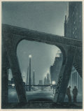 Fine Art - Work on Paper:Print, Gerald Kenneth Geerlings (American, 1897-1997). Jewelled City(Chicago 1931), 1931. Etching and aquatint on wove paper, ...