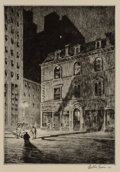 Prints & Multiples, Martin Lewis (American, 1881-1962). The Great Shadow, 1925. Drypoint on handmade cream wove paper. 10 x 7 inches (25.4 x...
