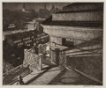 Prints & Multiples, Martin Lewis (American, 1881-1962). East Side Night, Williamsburg Bridge, 1928. Drypoint on laid paper. 9-3/4 x 11-7/8 i...