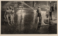 Martin Lewis (American, 1881-1962) Two A.M. (1st state, of 2), 1932 Drypoint on handmade cream wove