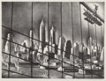 Prints & Multiples, Louis Lozowick (American/Russian, 1892-1973). Through Brooklyn Bridge Cables, 1938. Lithograph on paper. 9-5/8 x 12-5/8 ...