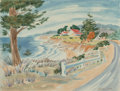 Works on Paper, William Zorach (American, 1887-1966). California Coast. Watercolor on paper. 20 x 26-1/8 inches (50.8 x 66.4 cm). Signed...