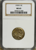 Buffalo Nickels: , 1928-S 5C MS65 NGC. NGC Census: (36/3). PCGS Population (55/5).Mintage: 6,936,000. Numismedia Wsl. Price: $4,525. (#3965)...