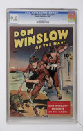 Golden Age (1938-1955):War, Don Winslow of the Navy #21 Crowley Copy pedigree (Fawcett, 1944)CGC VF/NM 9.0 White pages....