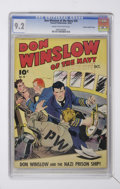 Golden Age (1938-1955):War, Don Winslow of the Navy #20 Crowley Copy/File Copy (Fawcett, 1944)CGC NM- 9.2 Cream to off-white pages....