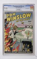 Golden Age (1938-1955):War, Don Winslow of the Navy #18 Crowley Copy/File Copy (Fawcett, 1944)CGC VF/NM 9.0 Cream to off-white pages....
