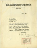 Movie/TV Memorabilia:Autographs and Signed Items, Carl Laemmle Signed Letter. Immigrant from Laupheim, Bavaria, CarlLaemmle was the founder of Universal Pictures and one of ...(Total: 1 Item)