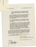 "Movie/TV Memorabilia:Autographs and Signed Items, Johnny Carson Signed ""Tonight Show"" Agreement. A six-page agreementbetween NBC and Johnny carson dated September 2, 1968, s..."