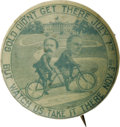 Political:Pinback Buttons (1896-present), McKinley & Hobart: One of the Best of all Political Cartoon Button Varieties. McKinley is shown with his 1896 running mate p...