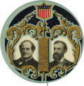 Political:Pinback Buttons (1896-present), Bryan & Kern: A Rare and Lovely Large 1908 Jugate Design. In an election known for impressive colorful button designs, this ...