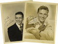 "Movie/TV Memorabilia:Autographs and Signed Items, Two Vintage Frank Sinatra Signed Photos. A pair of b&w 8"" x 10""photos of Sinatra as a young singer, both inscribed and sign..."