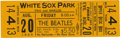 Music Memorabilia:Tickets, Beatles White Sox Park Concert Ticket. An unused ticket for thesecond of two shows at White Sox Park in Chicago on August 2...