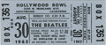 Music Memorabilia:Tickets, Beatles Hollywood Bowl Concert Ticket. An unused ticket for theirAugust 30, 1965, performance at the Hollywood Bowl, much o...