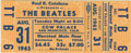 Music Memorabilia:Tickets, Beatles Cow Palace Concert Ticket. An unused ticket to the Beatles'August 31, 1965, evening performance at the Cow Palace i...