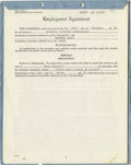 """Movie/TV Memorabilia:Autographs and Signed Items, Spencer Tracy Signed """"Guess Who's Coming to Dinner"""" Contract. A28-page employment contract between Columbia Pictures and Sp..."""