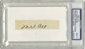 Autographs:Letters, Mel Ott Cut Signature PSA Mint 9. Mel Ott's coveted signature hasbeen preserved with utmost clarity as this Mint black fou...