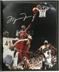 Autographs:Photos, Michael Jordan Signed Photograph. One of the game's foremostwizards has offered his coveted signature on the provided colo...