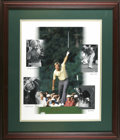Golf Collectibles:Autographs, Jack Nicklaus Signed Oversized UDA Photo Collage. Tremendous UpperDeck photo collage honors the career of legendary golfer ...