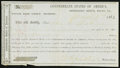 Confederate Notes, Interim Depositary Receipt Macon, (GA)- $100 Mar. 1, 1864 Tremmel GA-82.. ...