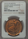 Expositions and Fairs, 1915 Panama-Pacific Expo Official Medal, HK-400, MS63 NGC....