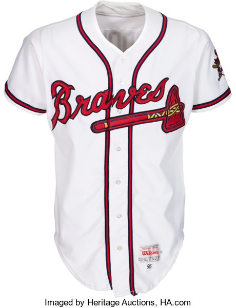 new product 7cce4 0f727 1995 Greg Maddux Game Worn & Signed Atlanta Braves Jersey ...