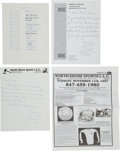 Baseball Collectibles:Others, 1959 World Series Betting Pool Sheet Signed by President John F. Kennedy.. ...