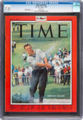 Golf Collectibles:Books/Magazines, 1960 Arnold Palmer TIME Magazine, CGC 7.0 - None Higher. . ...