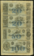 Obsoletes By State:Louisiana, New Orleans, LA- Canal & Banking Co. $20-$20-$50-$100 18__ Uncut Sheet. ...
