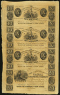 Obsoletes By State:Louisiana, New Orleans, LA- New Orleans Canal & Banking Company $10-$10-$10-$20 18__ Uncut Sheet. ...